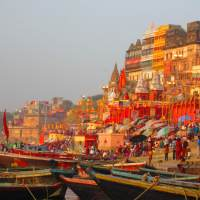 VARANASI - Benares, Banaras or Kāśī or Kashi is a North Indian city on the banks of the Ganges