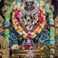 Lord Narasimha (Sanskrit: नरसिंह IAST: Narasiṁha, lit. man-lion), Narasingh, Narsingh and Narasingha and Narasimhar